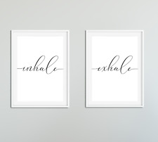 Inhale Exhale Quotes Prints / Pictures Phrases / Typography Wall Art Motivation