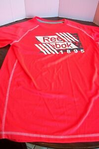 Reebok 1895 Red Youth Tee Shirt Size Extra Large XL NWT See Pics