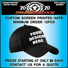 Custom Screen Printed Hats - Your Text Design or Logo On A Hat Cap - Satisfactio
