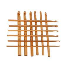 12Stk DIY Bambusgriff Häkelnadel Maschenbindung Yarn Craft Stricknadel Set Neu