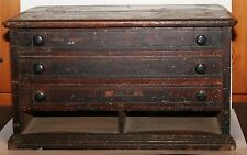 Antique Wood Merrick's Spool Cabinet