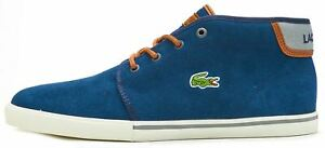 Lacoste Ampthill 318 1 CAM High Suede Boots in Navy Blue UK 6  EU 39.5