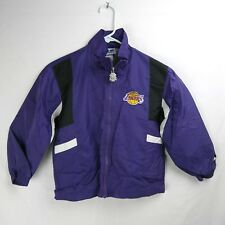 LOS ANGELES LAKERS Zip Up Lined Jacket NBA Basketball Boys Size 8/10 Small