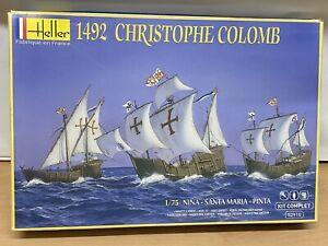 Heller Kit 1492 Christophe Columb 3 ships, NINA, SANTA MARIA, PINTA  1/75th