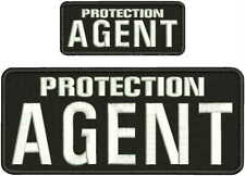 PROTECTION AGENT EMB PATCH 4X10 AND 2X5 HOOK ON BACK BLK/WHITE
