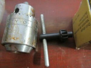 Emco Unimat DB200 Lathe E6G Drill Chuck & Key Ref. No. 1005  F04U w Chuck
