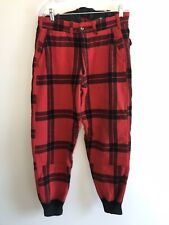Mens Vintage Carters Thick Wool Plaid Hunting Pants Cuffed Size 32x29