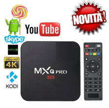 TV BOX ANDROID IPTV 4K FULL HD 1080P 4GB 32GB RAM SMART DECODER WIFI MXQ PRO