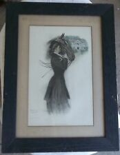 rare CLARENCE UNDERWOOD The Girl of the South 1906 FRAMED PRINT woman and horse