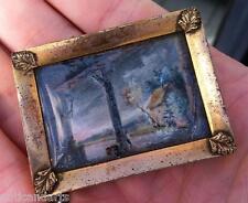 Petite boite livre Miniatures Fixés sous verre XVIII-XIXéme