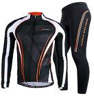 Men Bike Riding Long Sleeve Outfits Cycling Jersey Pants Kits Shirt Tights Sets