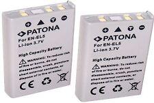2 Akku  EN-EL5 Batterie Accu ERSATZAKKU Zweitakku wie NIKON  EN-EL5  / ENEL 5