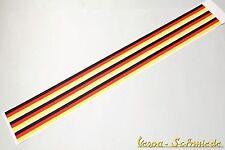 """VESPA Banner Beinschild / Kotflügel / Seitenhaube """"German Stripes"""" Aufkleber"""