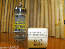 Vintage Realistic Ge 6Cg7 6Fq7 Gold Pins Stereo Tube Results= 2880/2730