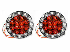 """TWO Maxxima Slim Hybrid 4"""" Round Red STT Back Up LED Light Trailer Jeep Reverse"""