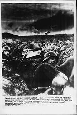 German Nazi Army soldiers await trenches on Eastern Front 1941 Press Photo