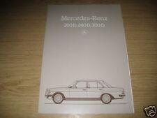 Prospekt Mercedes 200, 240, 300 Diesel W 123  von 1983