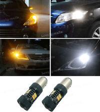 1157 BAY15D 1016 1034Switchback Dual Color LED White Amber Turn Signal Lights