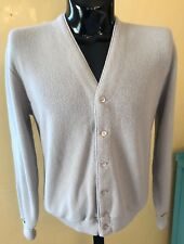 VTG Jantzen Mens Cardigan Sweater Gray Grandpa Hipster Sweater Made In USA Sz XL