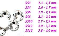 Kristalle aus Glas Klar Kristall Steine Strass SS6 Nageldesign 40 St Zippbag NEU