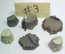 Stumps Assortment #3 cast resin All Scales see chart O,S,HO,HOn3 logging scenery