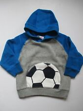 Gymboree Star Brights Soccer Hoodie Pullover Jacket Boys 12-24 months NEW NWT