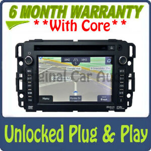 UNLOCKED Chevy GMC Navigation XM Radio Bluetooth USB DVD AUX Stereo 23180744