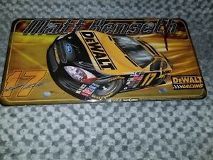 #17 Matt Kenseth DeWalt Racing Metal License Plate Ford Fusion Roush Fenway