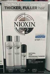 Wella Professionals Nioxin Trial Kit System 2 Delivers thicker & fuller hair New