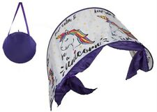 Kids Pop Up Unicorn Bed Canopy Childrens Comfort Dome Tent Dream Screens