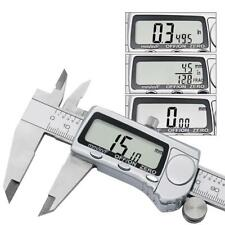 Electronic Digital Caliper LCD Screen Inch Metric Fractions Conversion Measuring