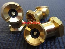 3 PC BRASS AIR BALL TIRE CHUCK INFLATE 1/4 NPT,  USE WITH AIR HOSE COMPRESSOR