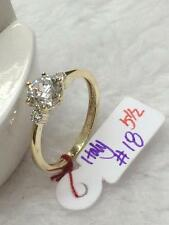 SOLID 14K Italy Gold Engagement Ring - Size 5.5 /  1.8g