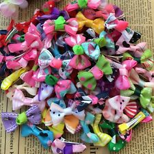200PCS/lot Wholesale colorful Dog Puppy cat Pet Bow Hairpins Hair Clip Grooming