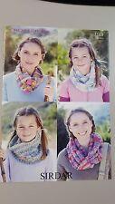 Sirdar Knitting Pattern #7163 Ladies Snood Cowl in 4 Styles to Knit Crofter DK