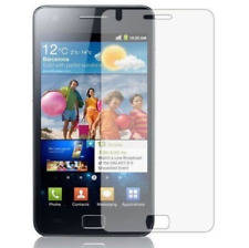 2 x Clear LCD Screen Protector Guard Film Covers For Samsung Galaxy S2 i9100