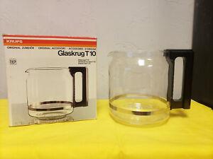 Krups Replacement Glass Carafe Original Glaskrug T 10 Cup Brown Handle