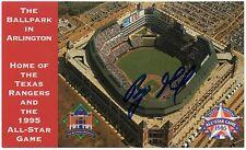 1995 Texas Rangers 1995 All Star Game Postcard Benji Gil *AUTOGRAPHED* SGA