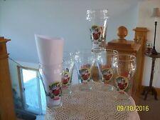 Libbey Christmas Big Boy Coca Cola Set Of 6 Santa Claus Drinking Tumber Glasses