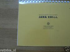 J0015 JAWA---BEDIENUNGS VORSCHRIFT 250cc----MODEL