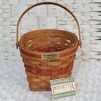 Vintage 1988 Poinsettia Longaberger Basket Christmas Collection  Collectible