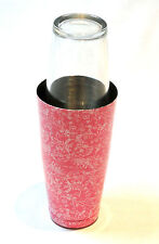 Boston Can with 16oz Glass set patterned - Pink | Cocktail Shaker