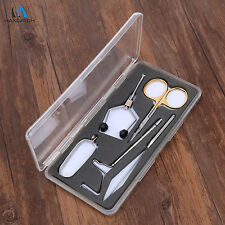 Fly Tying Tool Kit Travel Tool Set with Box Scissors Bobbin Whip Finisher Hackle