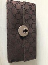 Portafoglio Gucci Donna Grande Marrone Con Fibia Originale E Introvabile  Pelle 758938875505