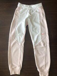 nike sweatpants pink/white womens size small