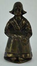 Antique Dutch bronze lady bell 3� tall. (Bi#Mk/180320)