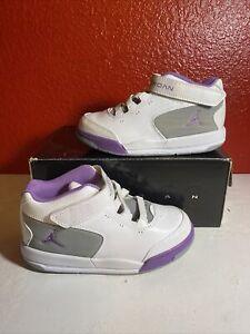 Baby Jordan Big Fund Viz Rst TD size 10c white/violet pop-wolf grey