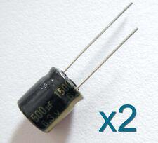2x condensateur PANASONIC 6.3V 1500uF Aluminium High Quality Capacitor 12x10mm