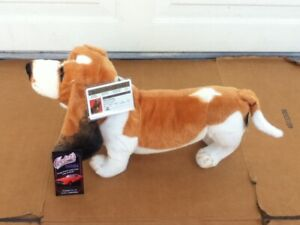 """Dukes of Hazzard General Lee LARGE 21"""" FLASH Plush Dog Doll License Collar Tags"""