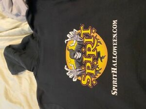 SPIRIT Halloween hoodie spencergifts great shape LARGE hooded sweatshirt awesome